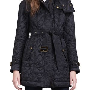 Gorgeous Burberry Finsbridge quilted coat XS